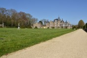 The castle of La Bourbansais just North of Rennes